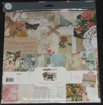 "Stickers Floral//Flowers KAISER Kaisercraft /'PROVINCIAL/' 12x12/"" Paper Pk"