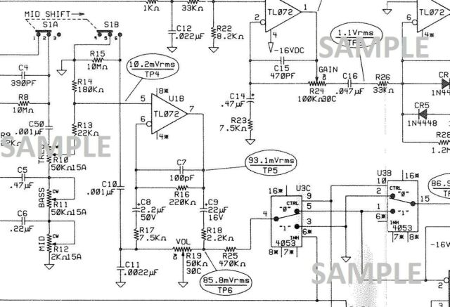 Fender Champ 25-SE Guitar Amplifier Schematic Diagram and Parts List on