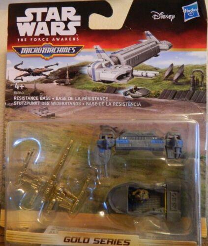 STAR WARS FORCE AWAKENS MICRO MACHINES GOLD SERIES B6940 RESISTANCE BASE 3pk NEW