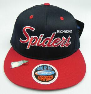 RICHMOND-SPIDERS-NCAA-VINTAGE-SNAPBACK-RETRO-FLAT-SCRIPT-2-TONE-CAP-HAT-NEW
