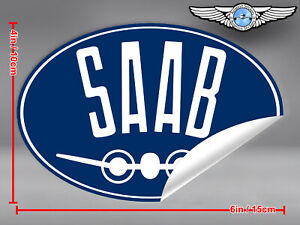 SAAB-AIRPLANE-OVAL-LOGO-STICKER-DECAL