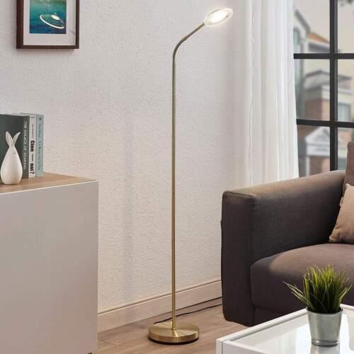 Stehleuchten LED Stehlampe Meghan Messing Matt Wohnzimmer Leuchte