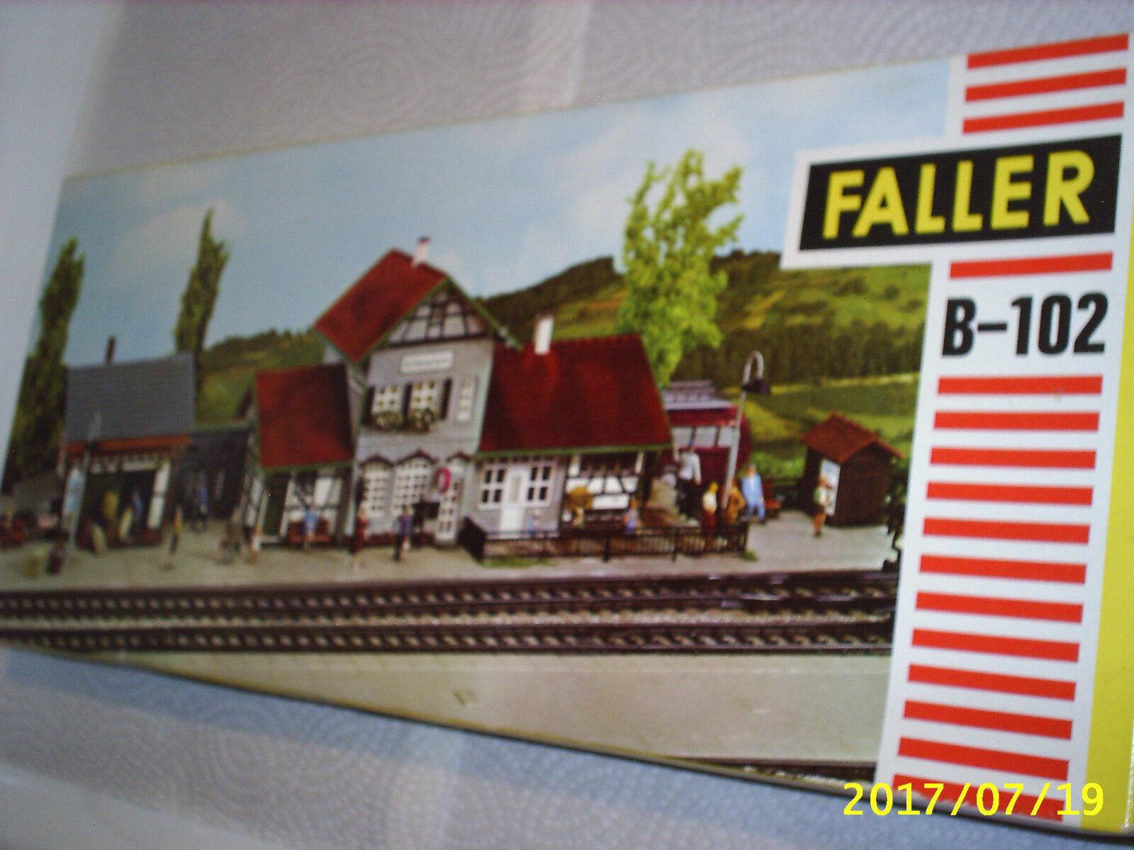 Tågstationen Small Town Ho skala Faller 70s Plastic byggnad modellllerler Kit Tyskland