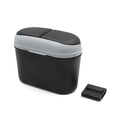 Auto coche gris con cierre magnético de basura Cubo de Basura Caja de almacenamiento Caso de polvo puede basura titular