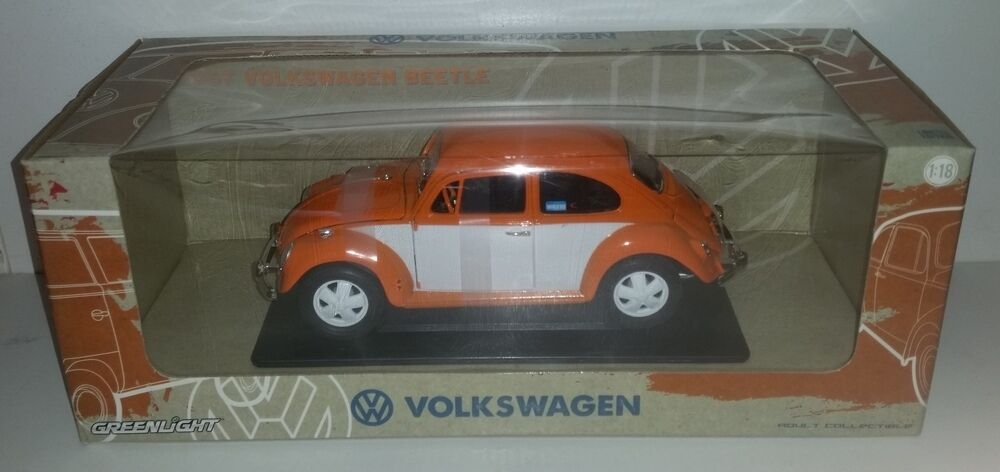 Escala 1 18 verdelight Collectibles 1967 Volkswagen Beetle Personalizado-Naranja