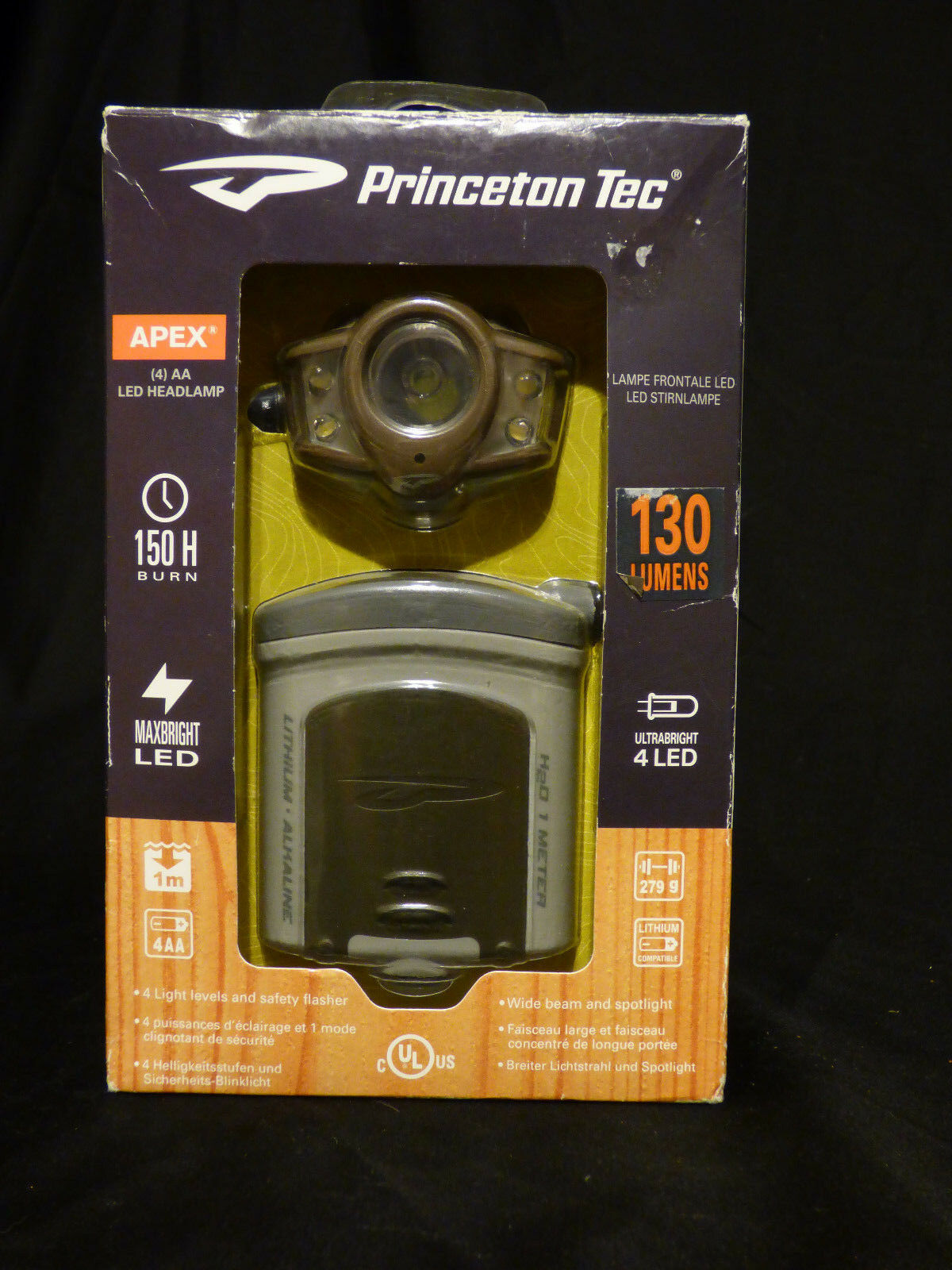 Princeton Tec Apex 130 lm Maxbright DEL tête Lampe