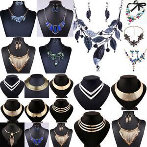 Fashion-Women-Crystal-Pendant-Jewelry-Chain-Bib-Chunky-Statement-Choker-Necklace