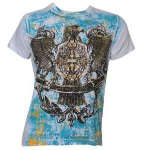 Konflic-Men-039-s-Eagle-amp-Cross-MMA-Muscle-T-Shirt-White