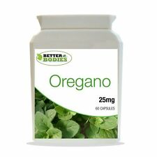 Cápsulas de aceite de orégano esencial 25mg Botella Origanum Vulgare Candida 60 Cápsula