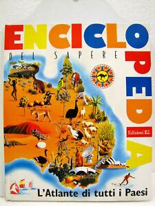 Cartonato-034-Enciclopedia-del-sapere-034-Atlante-di-tutti-i-Paesi-1977-1a-Edizione-EL
