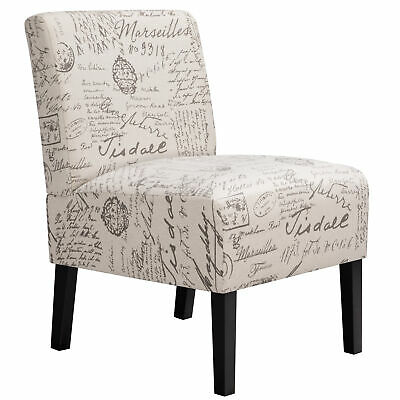 Armless Accent Chair Upholstered Chairs Tufted Sofa Modern ...