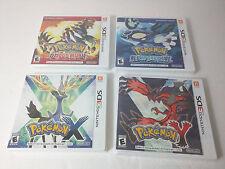 NINTENDO 3DS POKEMON X & Y + ALPHA SAPPHIRE & OMEGA RUBY - Set / Lot of 4 - NEW