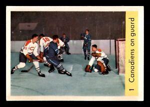 CANADIENS-ON-GUARD-59-60-PARKHURST-1959-60-NO-1-EX-13803