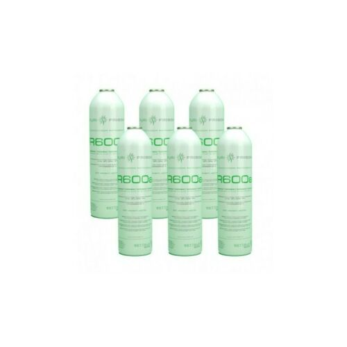 6 Botellas Gas Refrigerante R600 420gr Isobutano