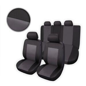 Premium Kunstleder Sitzbezüge Sitzbezug Schonbezüge für Mazda 323F Grau Set