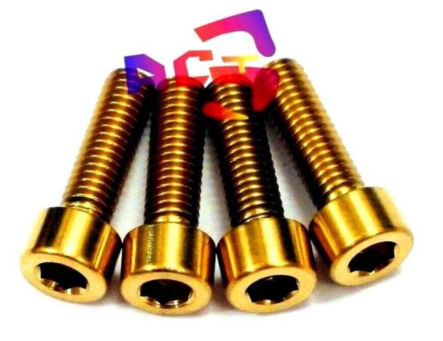 4Pcs M6x18mm /& M6x20mm Titanium Brake Caliper Mounting Bolts Oil Slick Golden