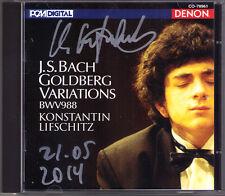 Konstantin LIFSCHITZ Signiert BACH Goldberg Variations DENON Japan CD BWV 988