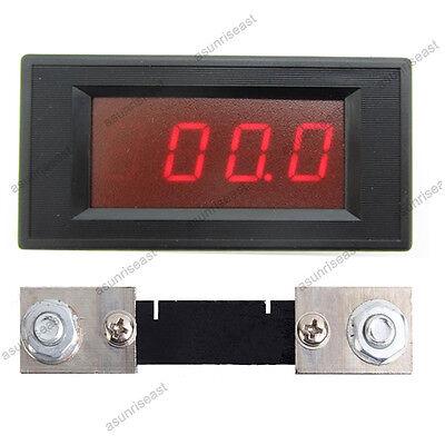 DC 100A Red LED Digital AMP Ammeter Panel Meter  With Current Shunt