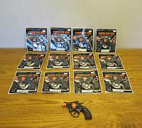 12 Super Cap Guns Toy Pistol Handgun Fires 8 Shot Ring Caps Kids Revolver