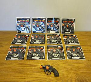 12 NEW SUPER CAP GUNS TOY PISTOL HANDGUN FIRES 8 SHOT RING CAPS KIDS REVOLVER