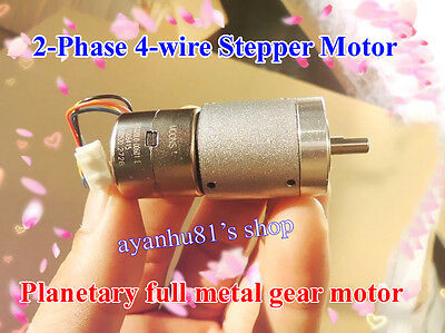 DC 5v 6v full metal gear box Planetary geared motor 2-phase 4-wire Stepper motor