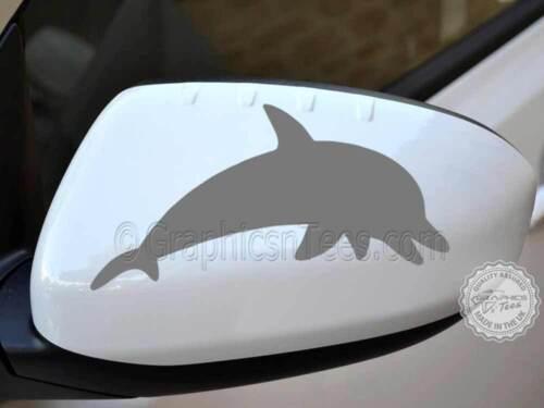 Autocollant Dauphins Voiture Aile Miroir vinyle graphique bumper stickers x2 couleurs diverses