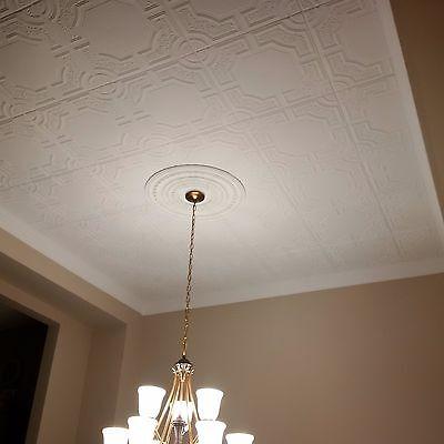 Styrofoam Decorative Ceiling Tile Diy Ceiling Decor 48 Tiles 130 Sq Ft Rm 28 Ebay