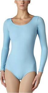 Capezio-Women-039-s-Long-Sleeve-Leotard-Light-Blue-Large-Light-Blue-Size-Large
