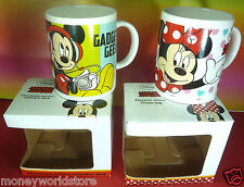 DISNEY CERAMIC 2 MUGS ( MICKEY MOUSE,GADGET GEEK & MINNIE MOUSE ,NEW