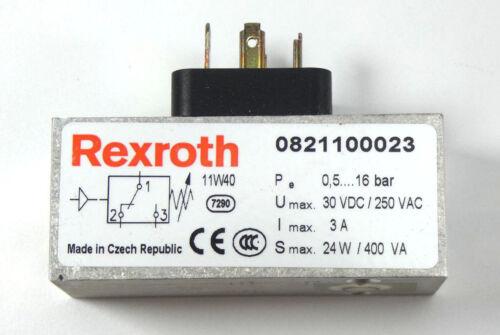 Rexroth Druckschalter 0821100023 Pneumatik 0 821 100 023 NEU OVP