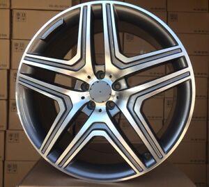 4x-21-Zoll-Alufelgen-fuer-Mercedes-Benz-ML-GL-GLS-GLA-10j-et46-21-034-Felgen
