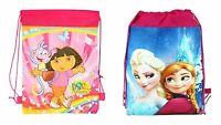 Frozen Elsa Anna & Dora Kids Girls School Bag Backpack Travel Swim Bag + Free...