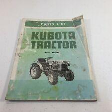 Genuine Kubota Tractor Model B6100 Illustrated Parts List Original