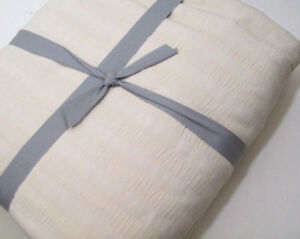 Lands-End-Home-Pale-Khaki-Brown-Cotton-Ribbed-Matelasse-Full-Queen-Coverlet-New