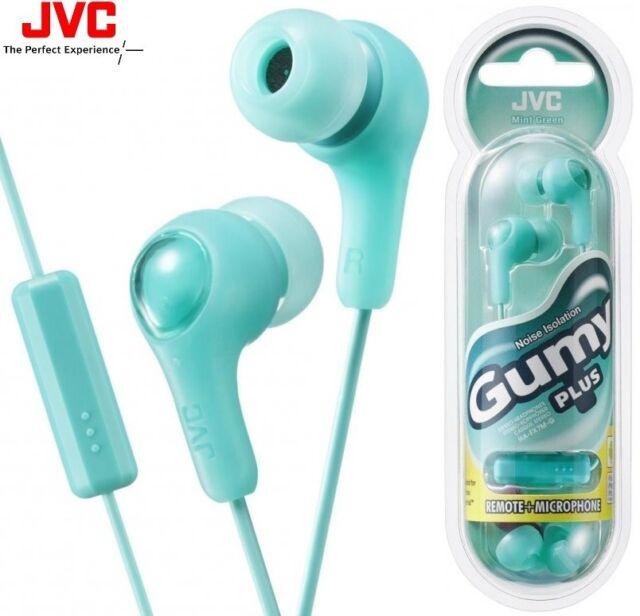 JVC ha-fx7m-g Verde Goma Internos Auriculares con mando a distancia & Micrófono