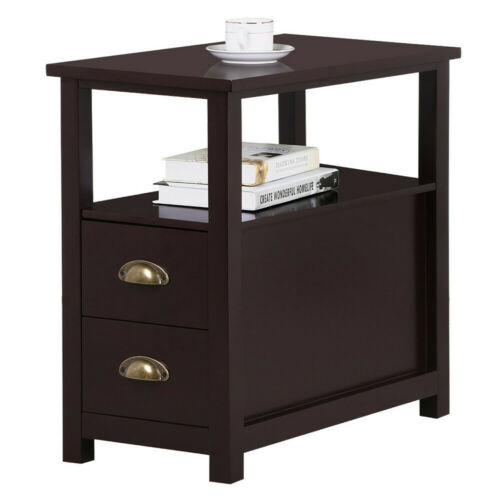 Side End Table Sofa Chair Bed Coffee Table Night Stand With Storage Drawer Shelf
