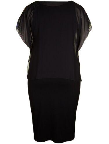 jersey Streich avec à noire Doris couche motifs Robe Taille plus en d6xTqt