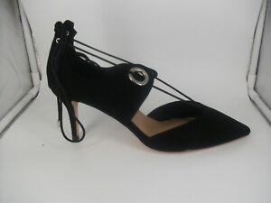 ASOS Black Textile Tie Court Shoes UK 8 EUR 42 JS001 DD 04