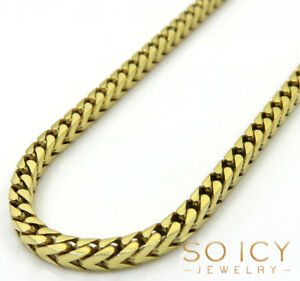 22-24-034-2-2mm-10k-Yellow-Gold-SOLID-Franco-Box-Cuban-Chain-Necklace-Mens
