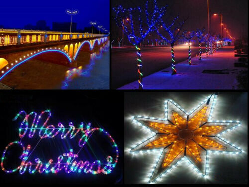 15m 10m LED Lichterschlauch Lichtschlauch 3 Farben Beleuchtung Außen//Innen IP65