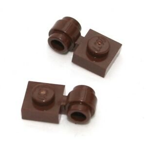 2x-LEGO-Platte-1x1-mit-Ose-Ring-Clip-Light-4081b-NEU-Brown-Braun-alt-RAR