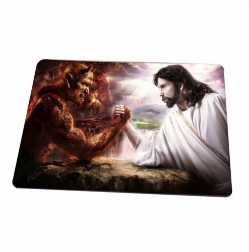 Jesus and the Devil Heaven and Hell Good Versus Evil Mouse Pad ToyMP:230
