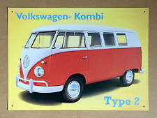 VW Volkswagen Kombi Type 2 - Tin Metal Wall Sign