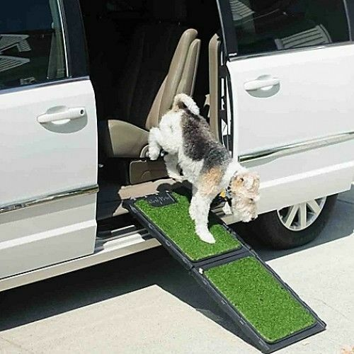 Pet Walk Up Ramp Dog Car Ramps 42 L Folding Portable Step