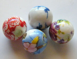 30pcs-10mm-Round-Porcelain-Ceramic-Beads-Random-Mix