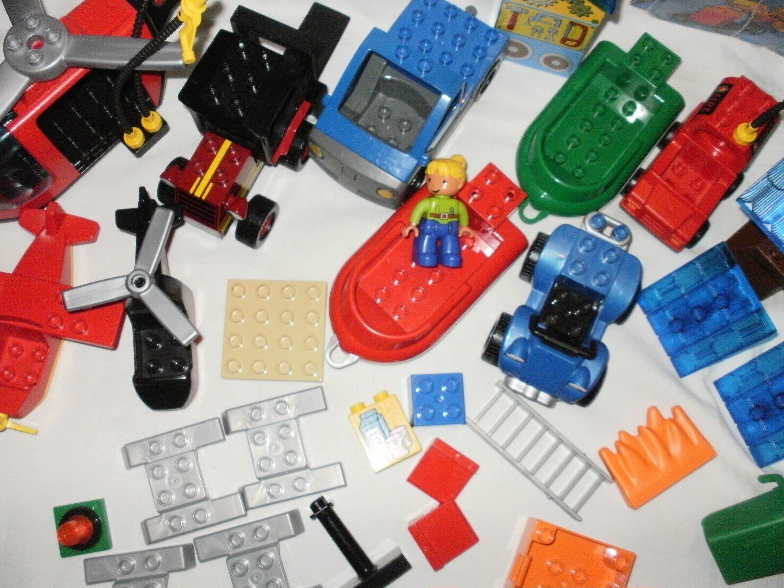 LEGO Duplo  Bob der Baumeister Werkstatt Sprinti Mixi Feuerwehr Hubschrauber +++