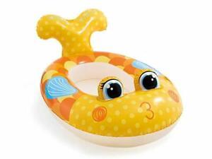 Enfants Jaune Poisson Gonflable Bateau Piscine Eau A Chevaucher Flotteur Ty575 La DernièRe Mode