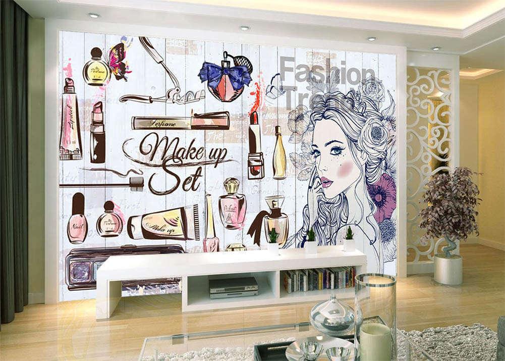 Delicate Pig Girl 3D Full Wall Mural Photo Wallpaper Printing Home Kids Decor