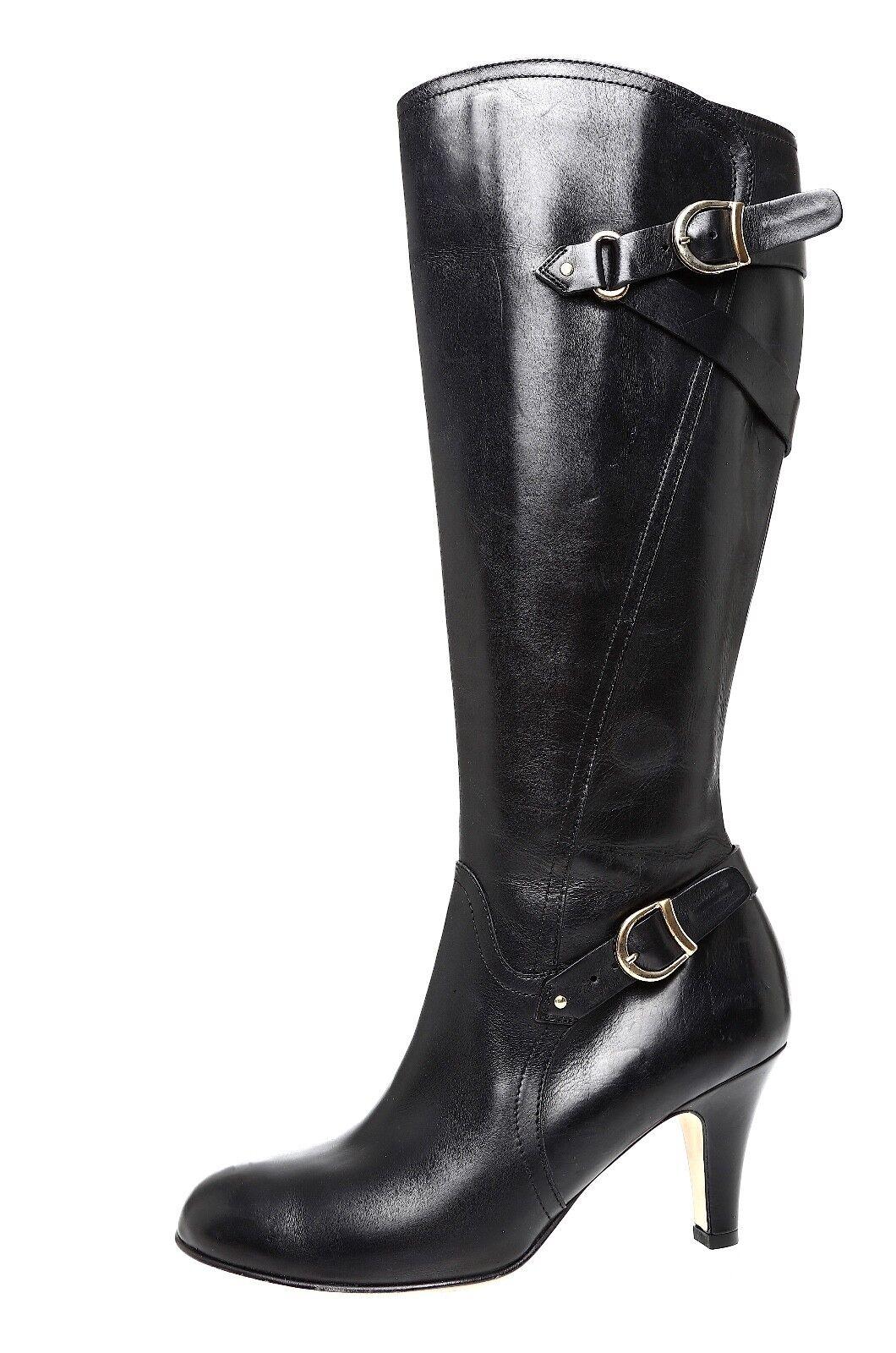 Anyi Lu Viktoria Leather Boot Black Women Sz 39 *
