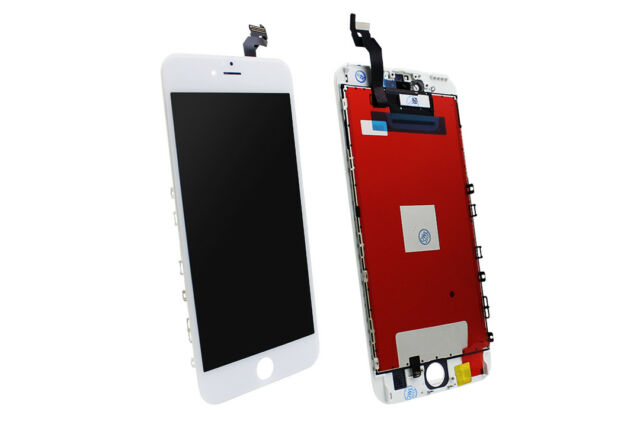 LCD Unidad Completa para Apple iPhone 6s Plus Blanco 3d Pantalla Táctil